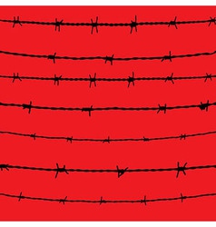 Barbed wire seamless background fence vector