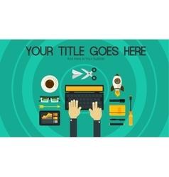 Blogging Concept Header Banner vector image vector image