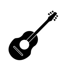 guitar traditional acoustic music pictogram vector image