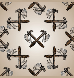 indian axes seamless pattern vector image vector image