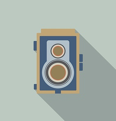 Modern Design Vintage Camera vector image