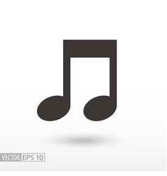 note flat icon sign music vector image