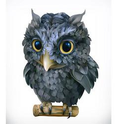 Owl Night bird Funny animal 3d icon vector image vector image