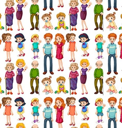 Seamless family vector image vector image
