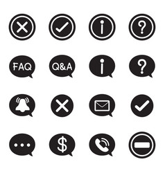 silhouette speech bubble icons chat message vector image
