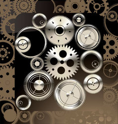 Abstract gear background vector image