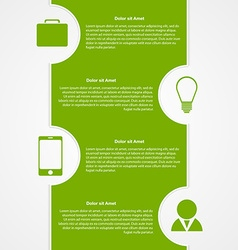 Abstract infographic Modern design template vector image