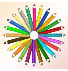 Arts concept with pencils vector image