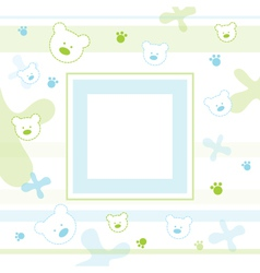 Baby Teddy Frame vector image vector image