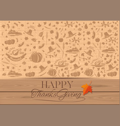 background for thanksgiving day vector image