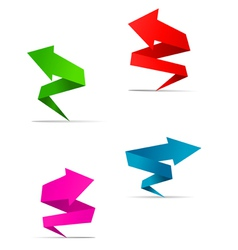 origami Arrow web banners vector image