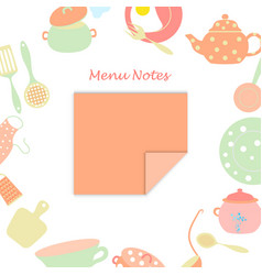 Small leaf for menu notes vector