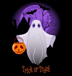 Trick or Treating Ghost vector image vector image