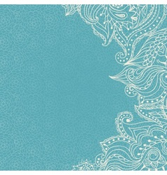 Vintage ornamental lace invitation on the seamless vector image vector image