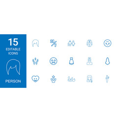 15 person icons vector