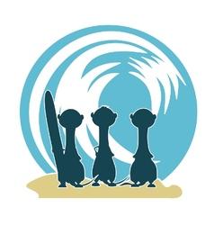 3 meercat surfers v2 vector