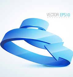 3d sprial arrow vector