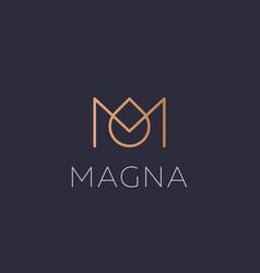 Abstract crown drop logo icon design modern vector