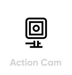 Action cam icon camera for active sports vector