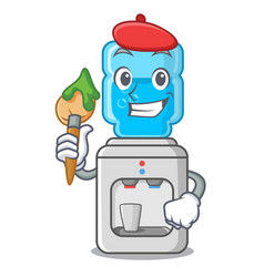 artist cartoon water cooler for office and home vector image