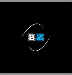B z letter logo creative design on black color vector