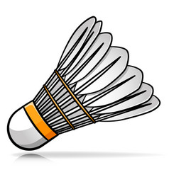 Badminton shuttlecock cartoon vector
