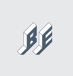 Be - international 2-letter code belgium b vector