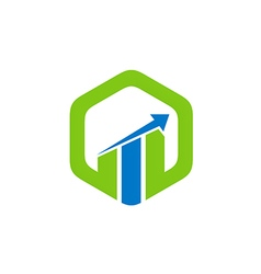 business finance arrow chart logo vector image