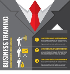 Business training infographic vector image