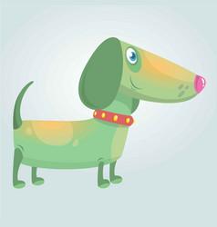 cartoon cute purebred dachshund dog vector image