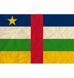 Central African Republic paper flag vector image