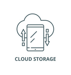 cloud storage line icon linear concept vector image