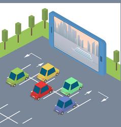 Concept of mobile cinema vector