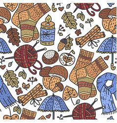 cozy fall vector image