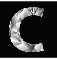Crystal letter C vector