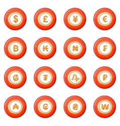 Currency icons set vector