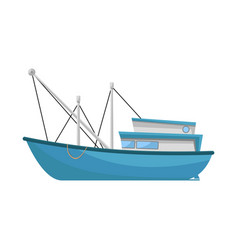 Design trawler and fishery icon set of