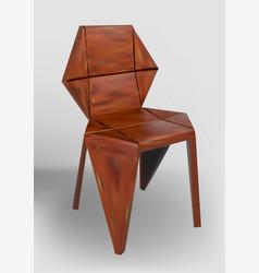 Desinger wooden chair vector