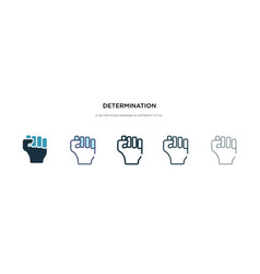 determination icon in different style two vector image
