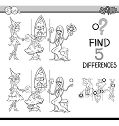 Differences test coloring book vector