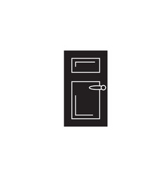 door black concept icon door flat vector image