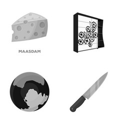 Ecology business trade and other monochrome icon vector