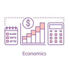 Economics concept icon vector