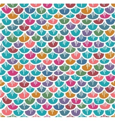 Fish Scales Seamless Pattern Colorful Cartoon vector