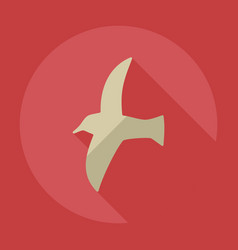 Flat modern design with shadow icons seagull vector