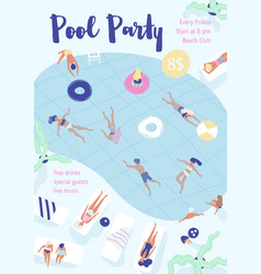 flyer poster party invitation template with vector image