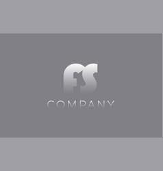 fs f s pastel blue letter combination logo icon vector image