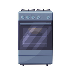 Gas stove household kitchen appliance flat style vector