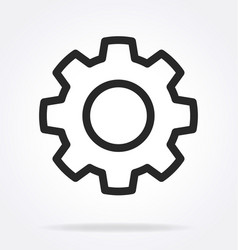 Gear cog service settings outline icon vector