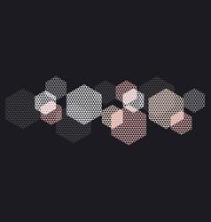 geometry header in pastel color vector image